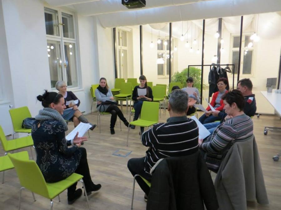Lekce řečtiny v Ostravském Impact HUBu.