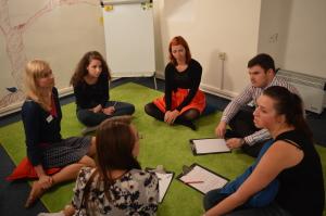 Máme i druhou místnost, kde byla naše druhá skupinka.