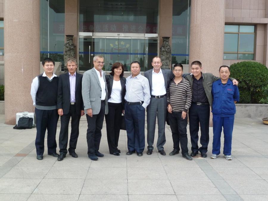 S obchodními partnery firmy v Číně.